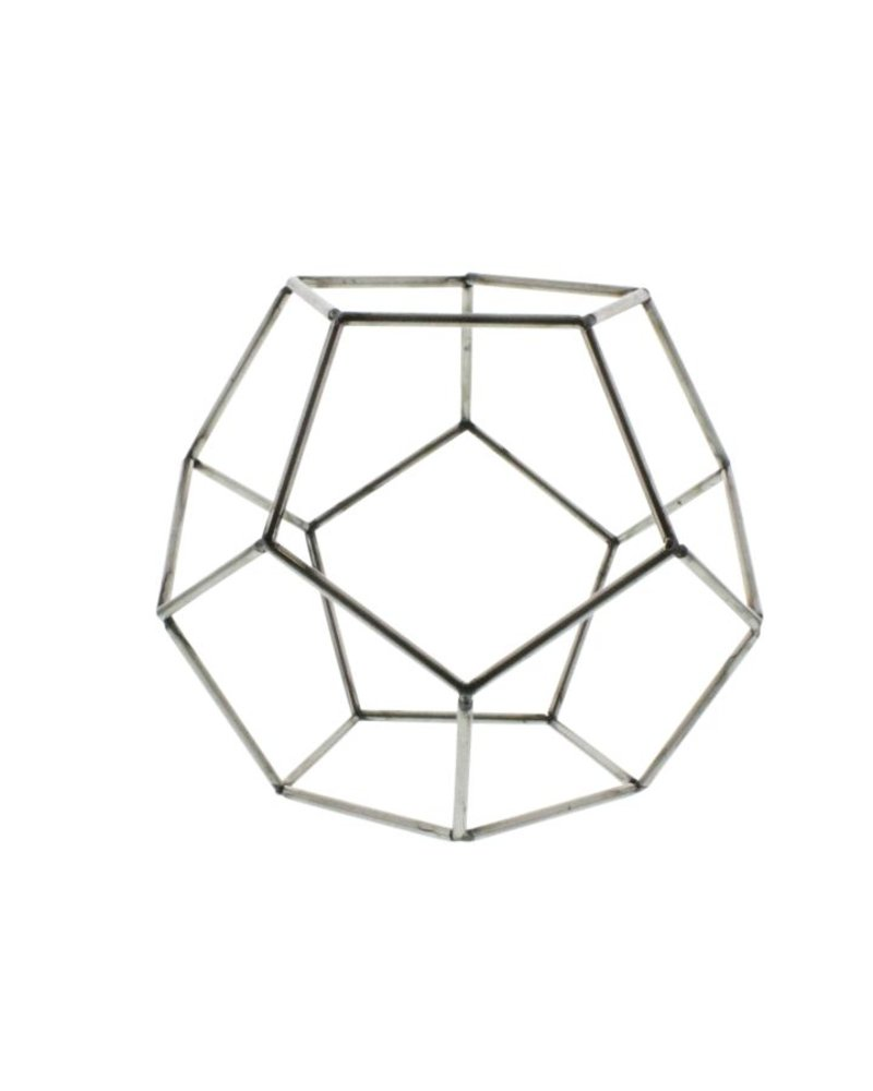 HomArt Steel Geo Dodecahedron Object - Natural