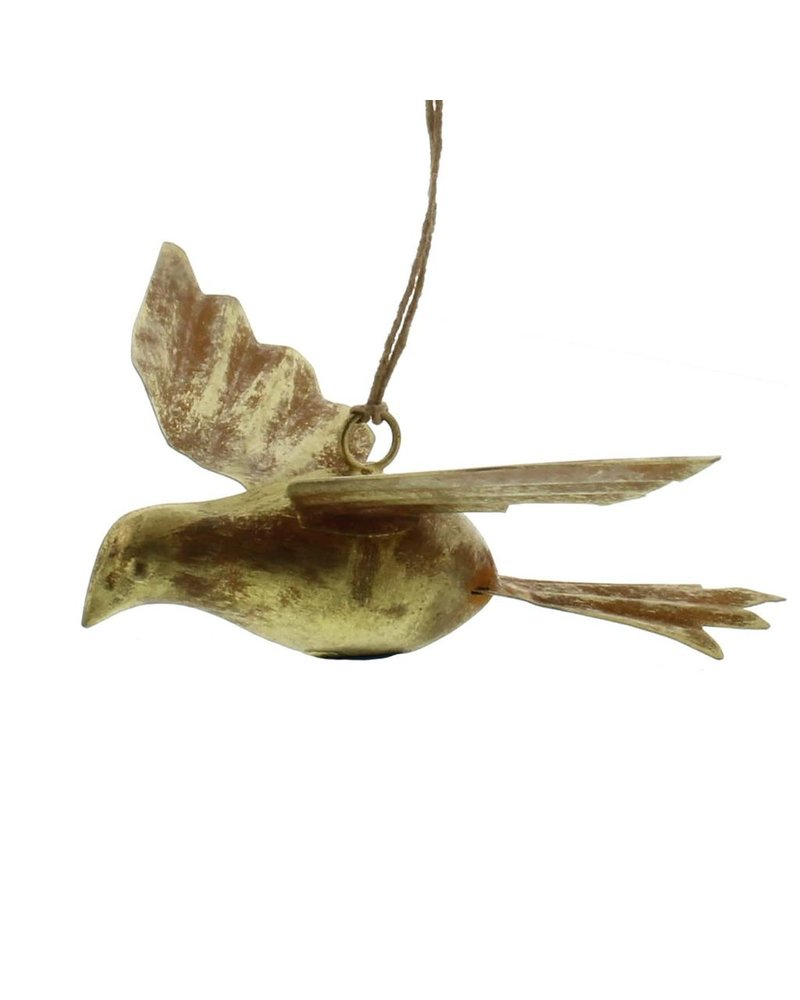 HomArt Gilt Bird Metal Ornament-Antique Gold