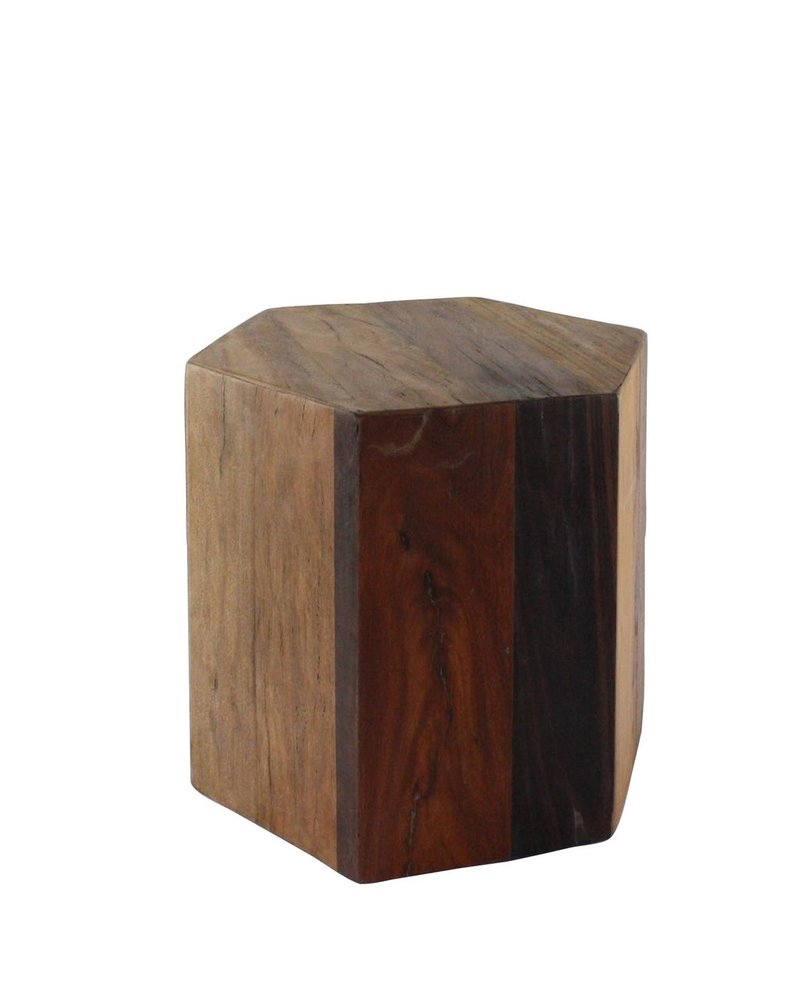 HomArt Hexagonal Wood Block - Med - Natural