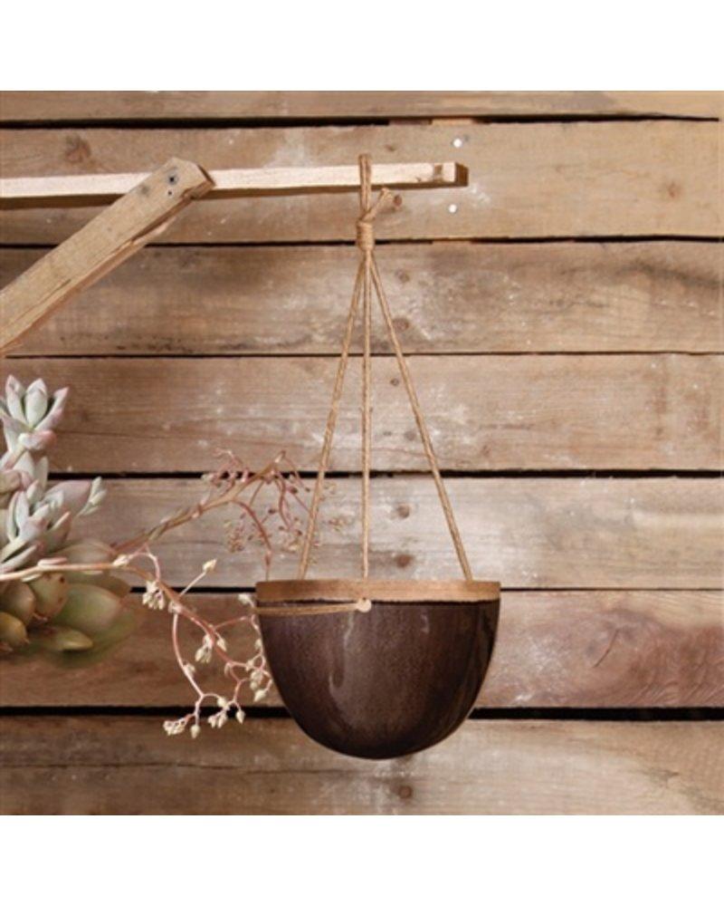 HomArt Mulberry Hanging Planter - Petite - Espresso