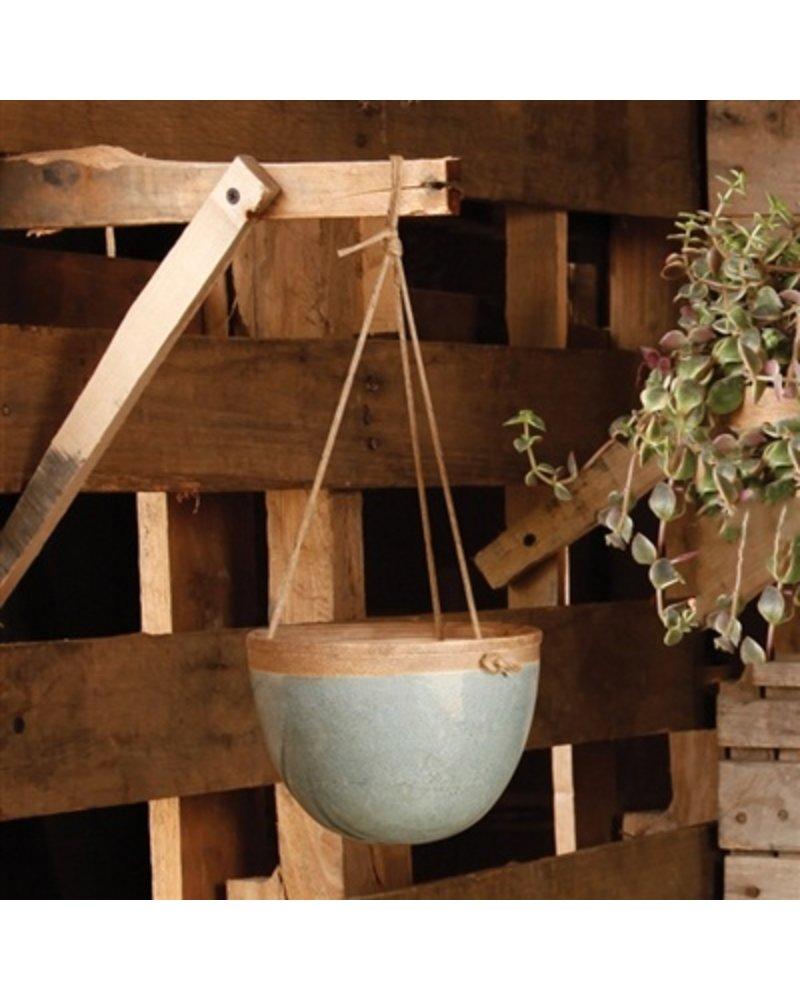HomArt Mulberry Hanging Planter - Petite - Teal