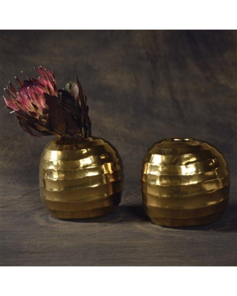 HomArt Odette Ceramic Vase - Lrg - Gold