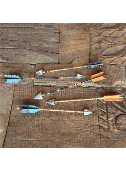 HomArt Painted Metal Arrows - Set of 5, Assorted