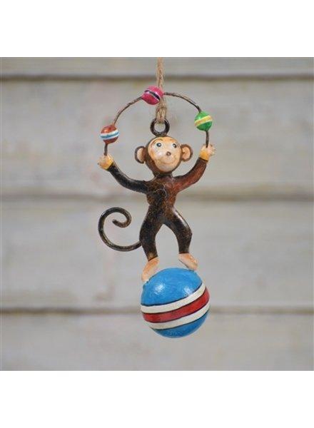 HomArt Painted Metal Circus Monkey Ornament