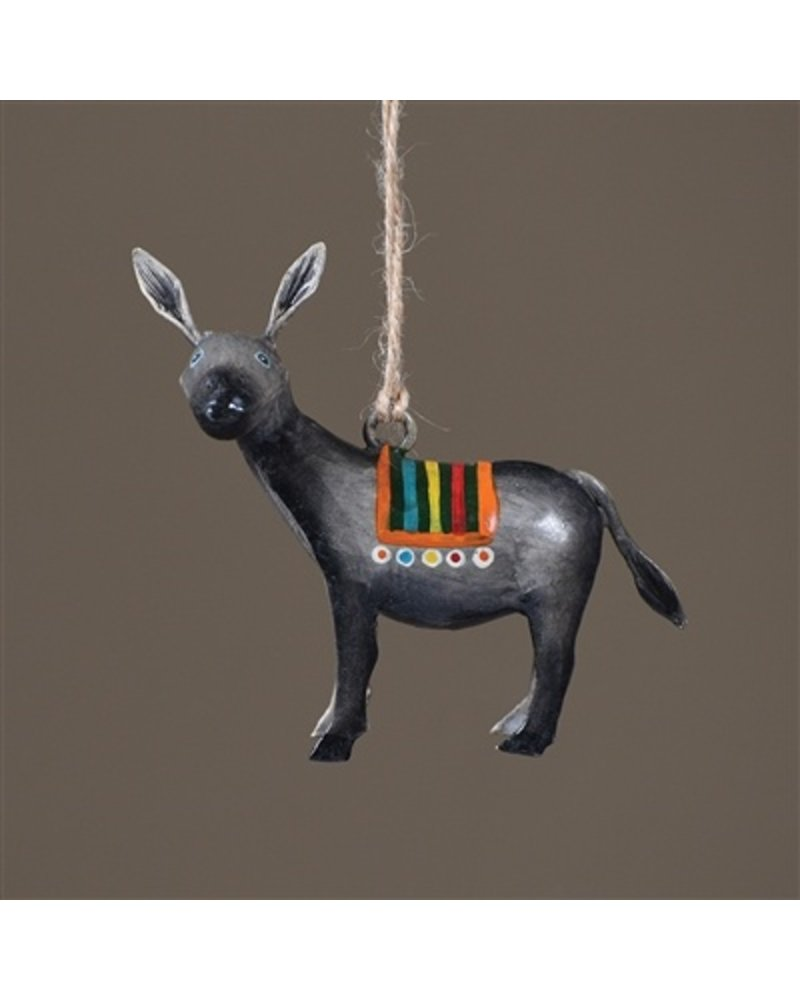 HomArt Painted Metal Donkey Ornament