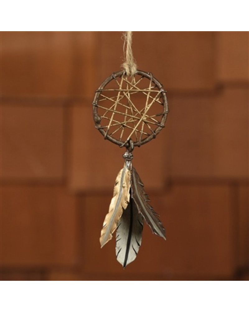 HomArt Painted Metal Dream Catcher Ornament