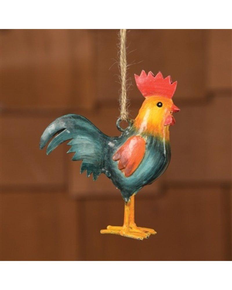 HomArt Painted Metal Rooster Ornament