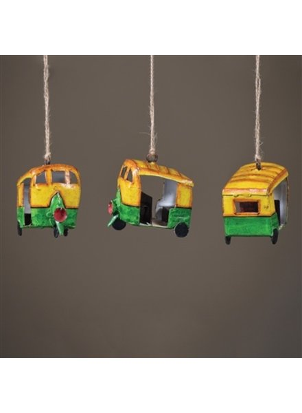 HomArt Painted Metal Tuk-Tuk Ornament