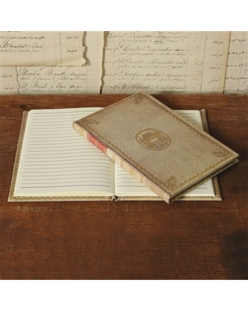 HomArt Vintage Canvas Journal - Red Band