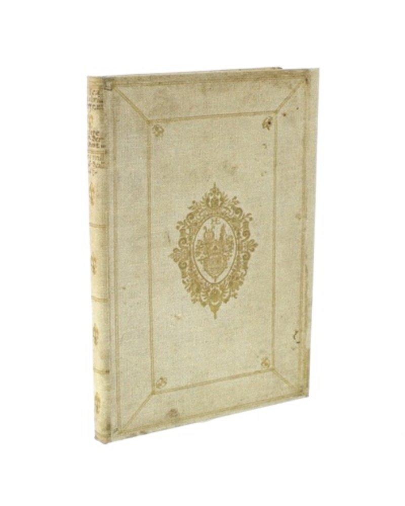 HomArt Vintage Canvas Journal - Gold Band