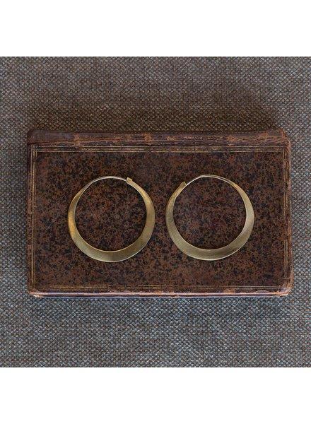 OraTen Brass Hoop Earrings - Sm