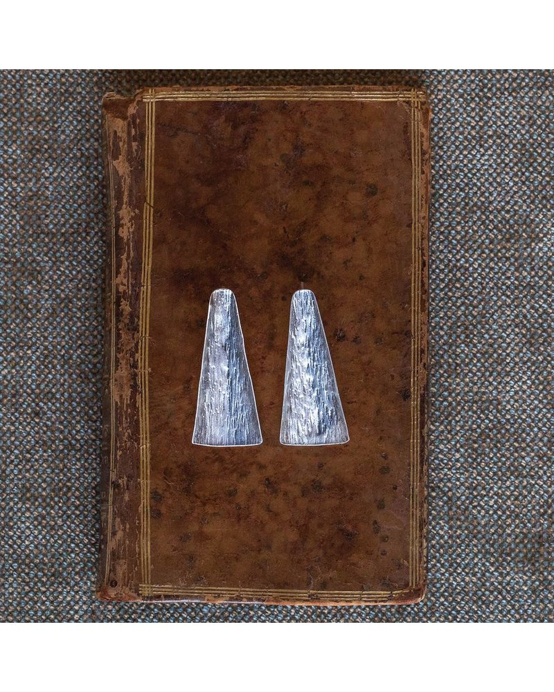 OraTen Gingko Silver Earrings, Long Leaf