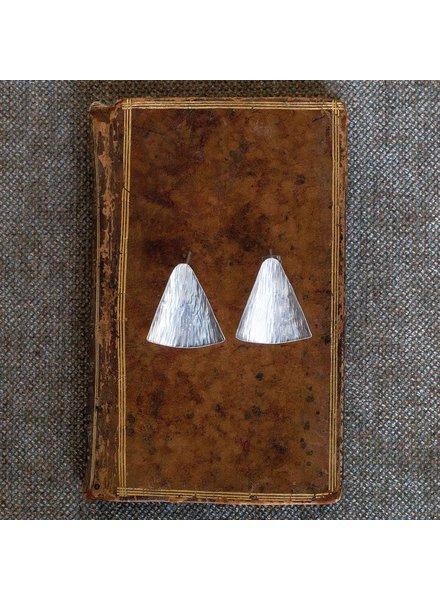 OraTen Gingko Silver Earrings, Wide Leaf