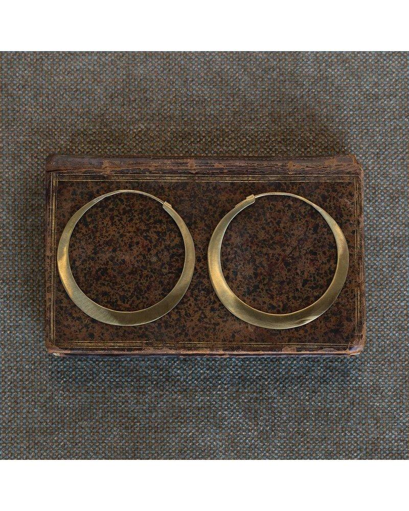OraTen Hoop Brass Earrings - Lrg