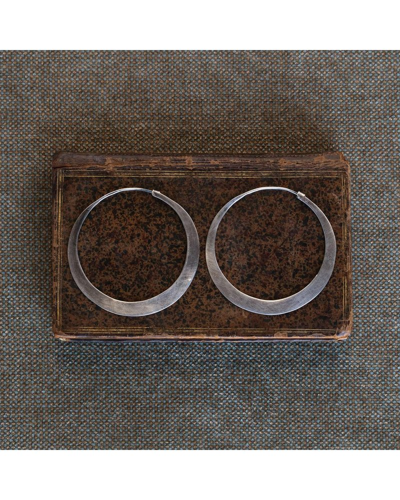 OraTen Hoop Silver Earrings - Lrg