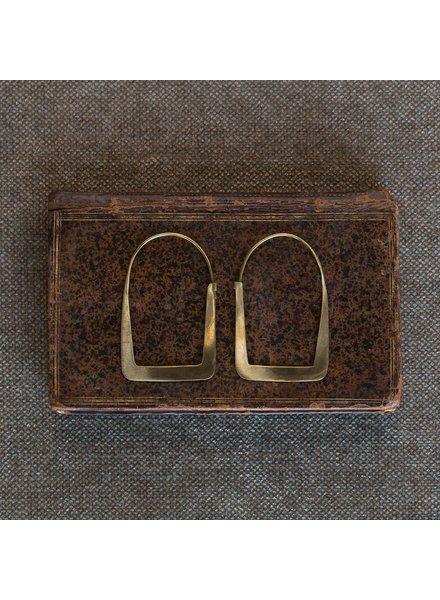 OraTen Arch Brass Earrings