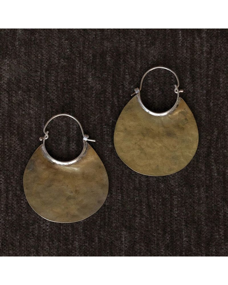 OraTen Brass Earrings, Drop
