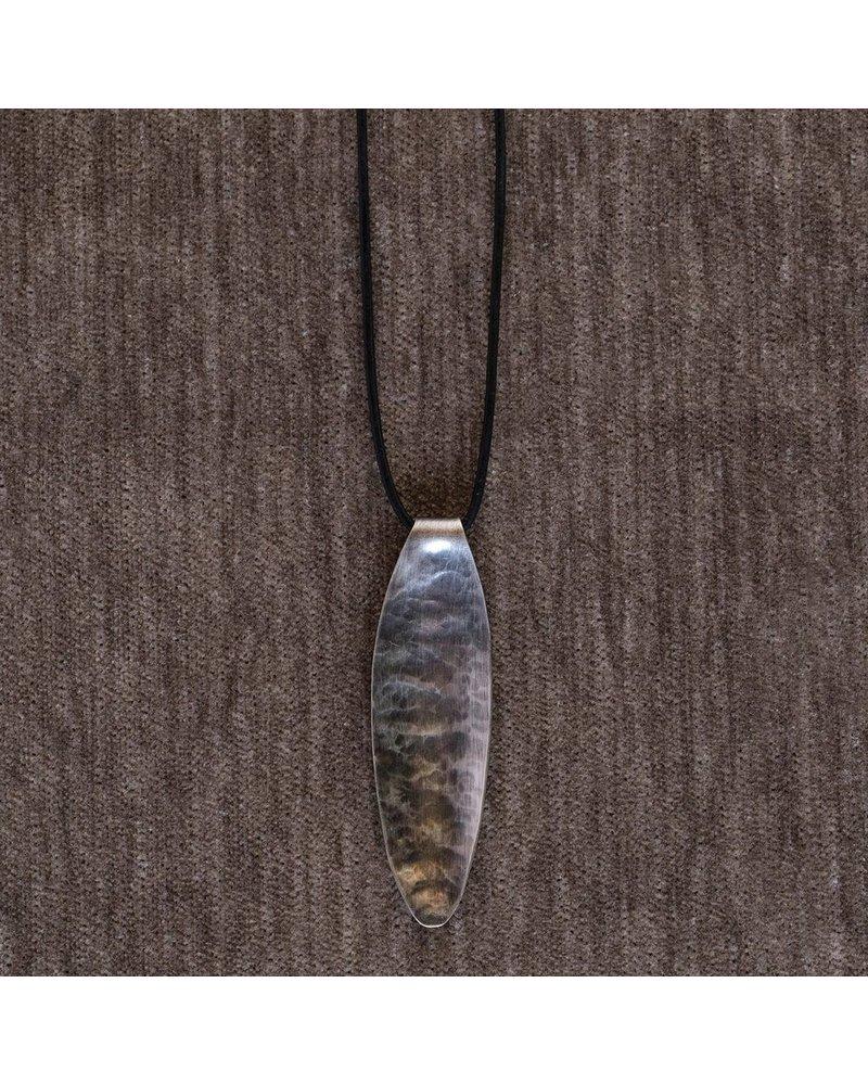 OraTen Pod Silver Pendant, Wide