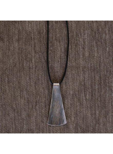 OraTen Gingko Silver Pendant, Long Leaf
