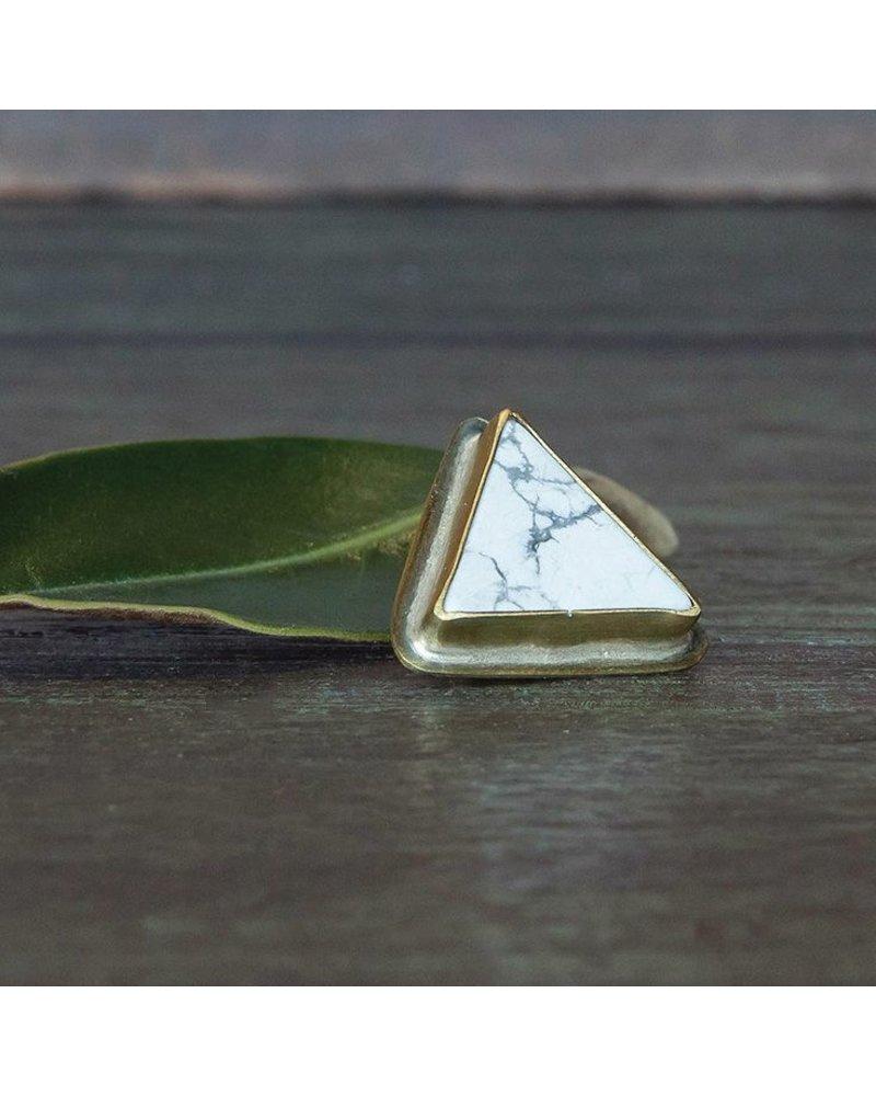 OraTen Lapel Brass Pin-Howlite