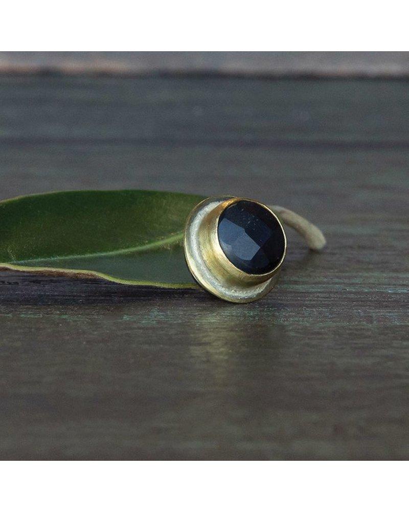 OraTen Lapel Brass Pin-Matte Black Onyx
