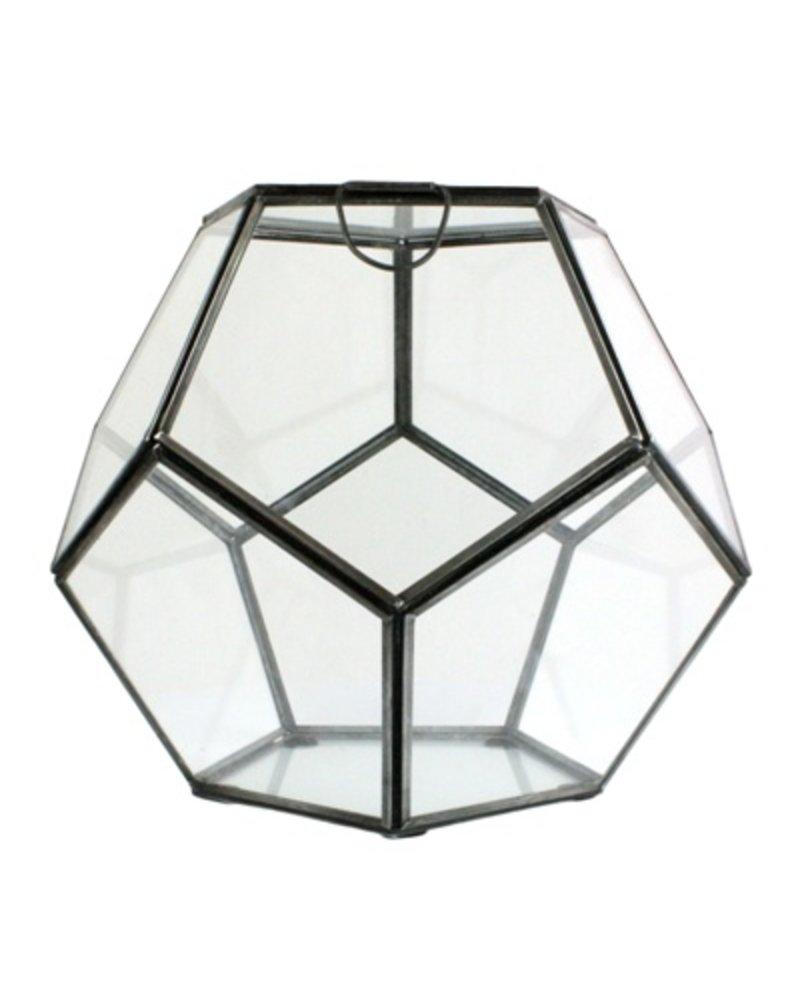 HomArt Pierre Faceted Terrarium - Sm Zinc