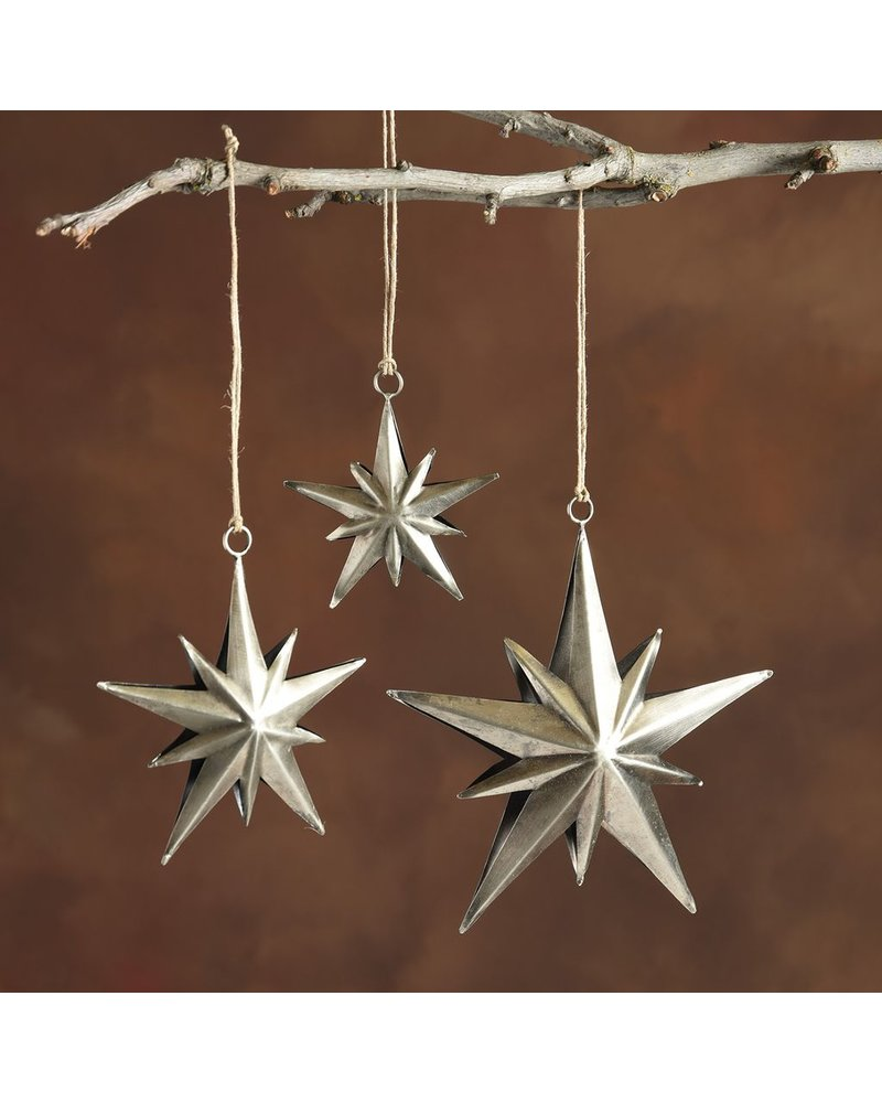 HomArt Northern Star Metal Ornament - Med-Antique Silver