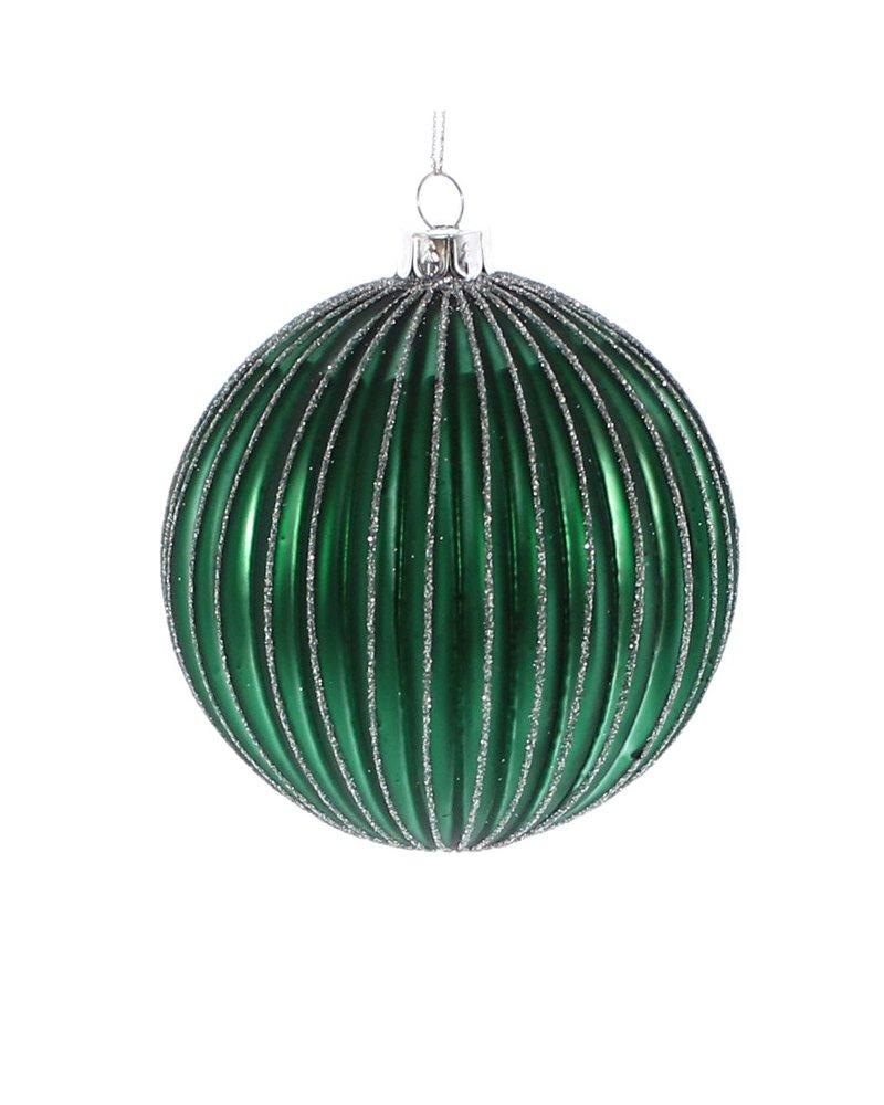 HomArt Glass Green Sphere Ornament