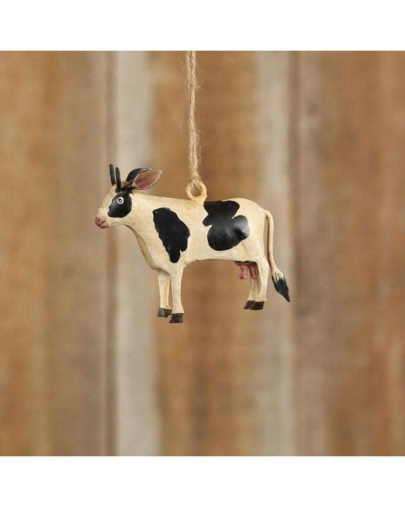 HomArt Hand-Painted Farm Animal Cow Ornament