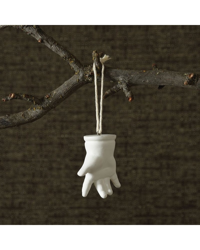 HomArt Bone China Milagro Ornament - Hand-White
