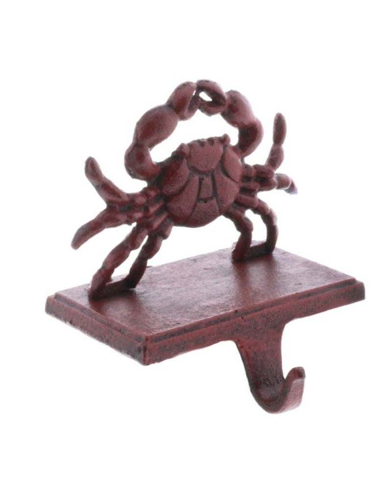 HomArt Crab Stocking Holder - Cast Iron-Red