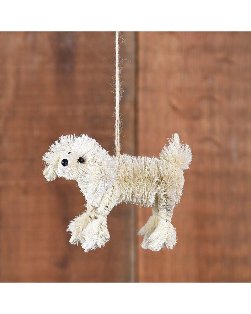 HomArt Poodle Bottle Brush Ornament-White