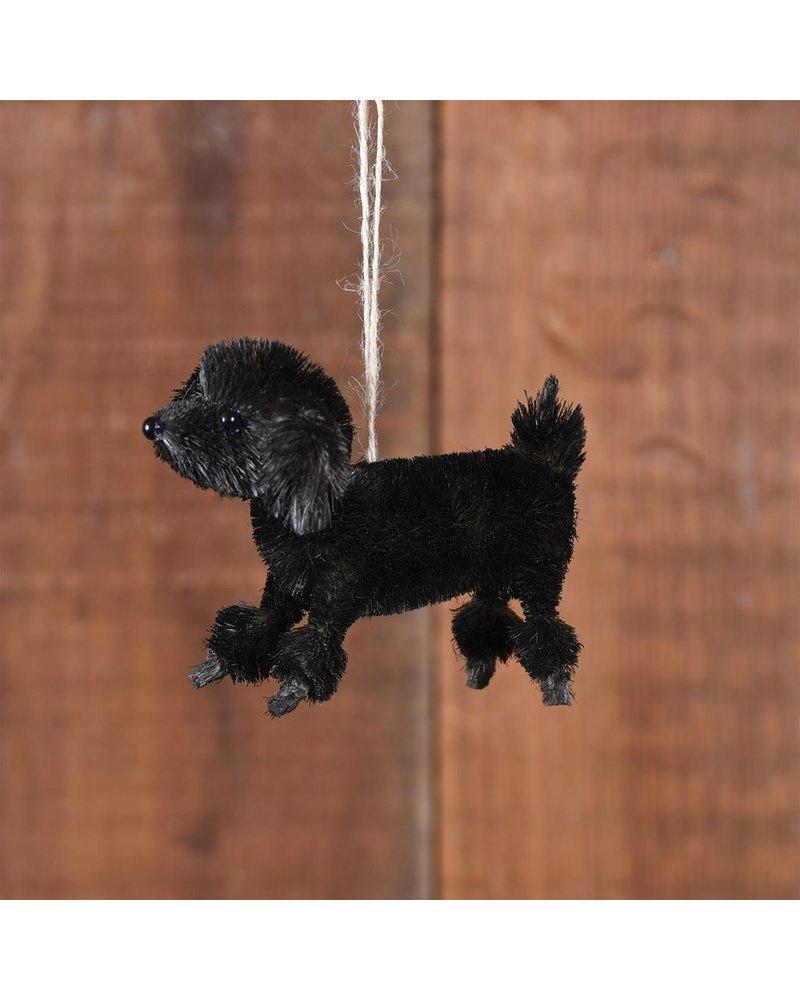 HomArt Poodle Bottle Brush Ornament-Black