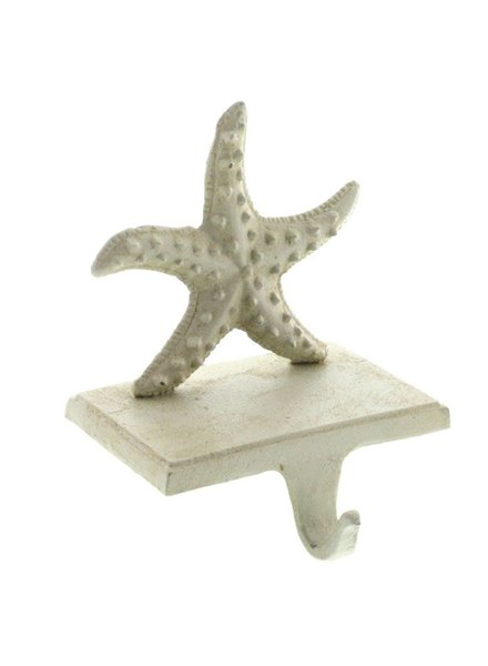 HomArt Seastar Stocking Holder - Cast Iron-Antique White