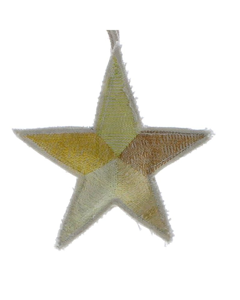 HomArt Canvas Star Ornament - Yellows  Yellows