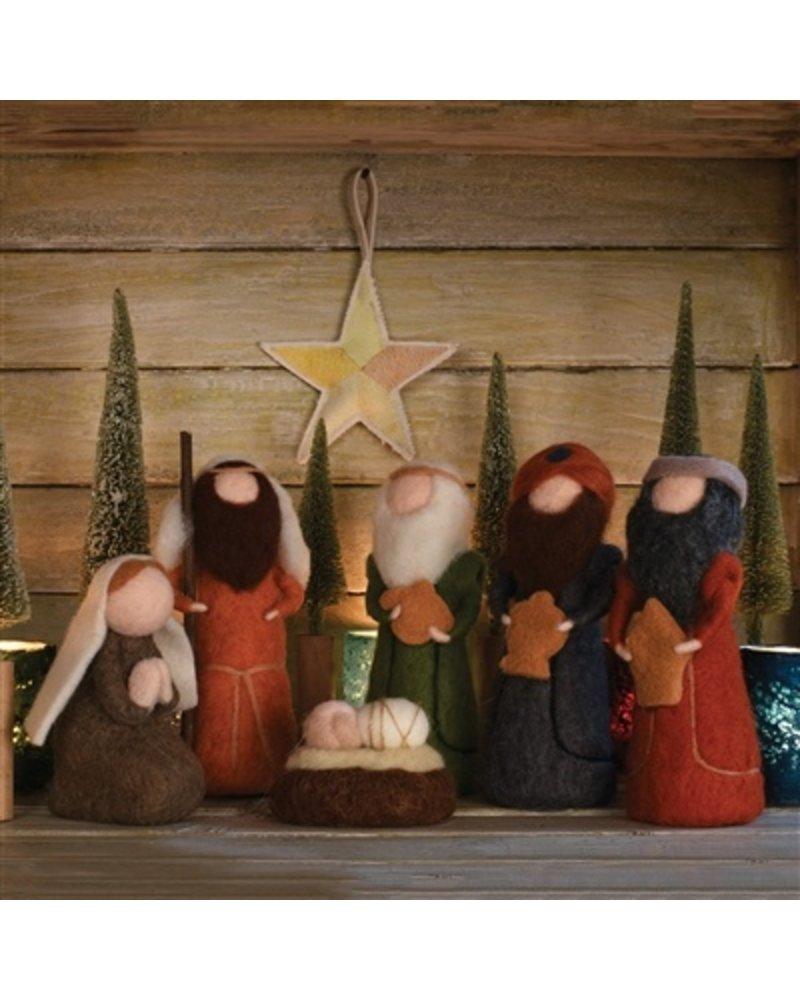 HomArt Felt Nativity - Set of 6 Figurines