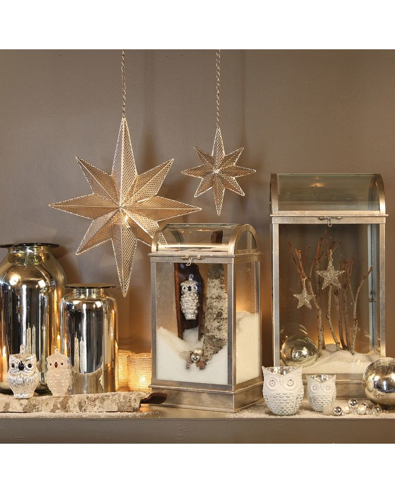 HomArt Frosty Snow Owl Glass Ornament - Sm