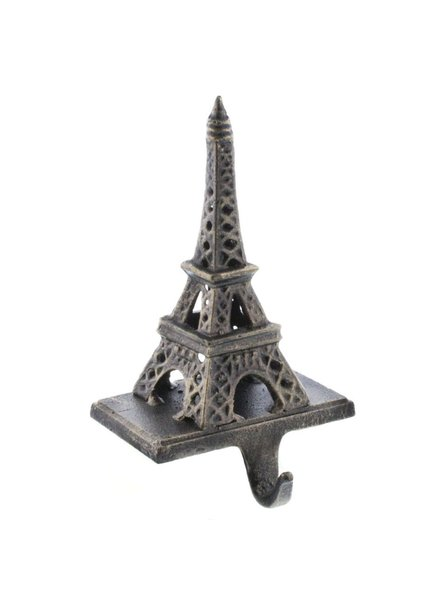 HomArt Eiffel Tower Stocking Holder - Cast Iron-Antique Bronze