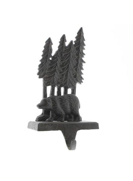 HomArt Woodland Bear Stocking Holder - Cast Iron - Brown