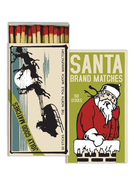HomArt Santa Brand HomArt Matches - Set of 3 Boxes