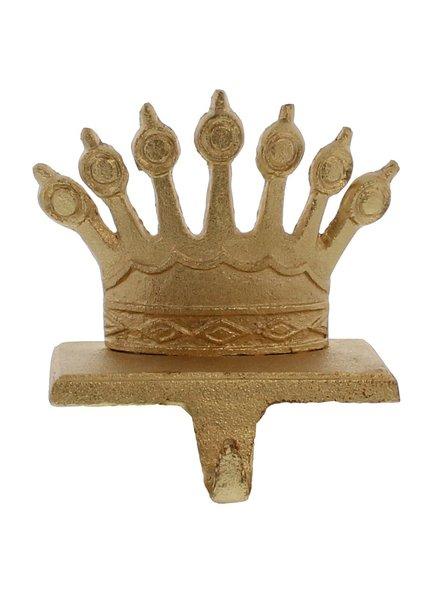 HomArt Gold Cast Iron Queen Crown Stocking Holder