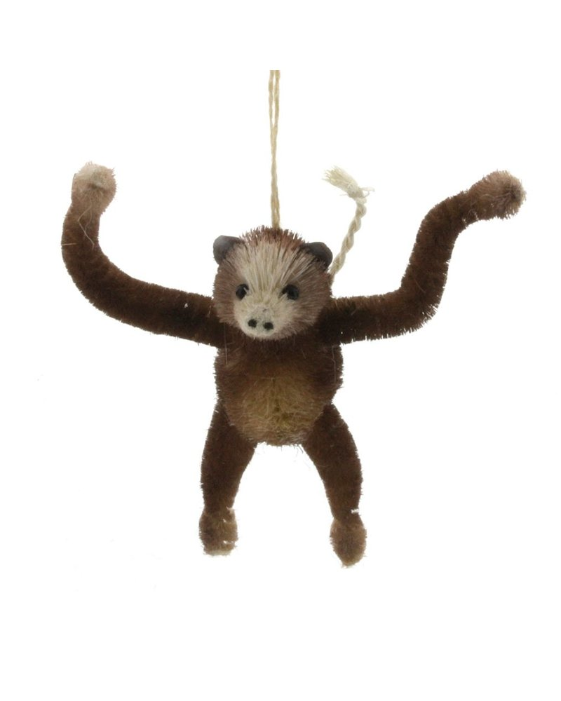 HomArt Monkey Bottle Brush Ornament