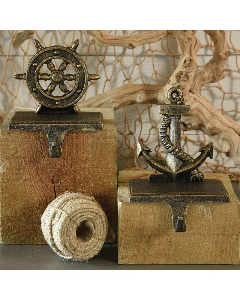 HomArt Anchor Stocking Holder - Cast Iron-Antique Bronze