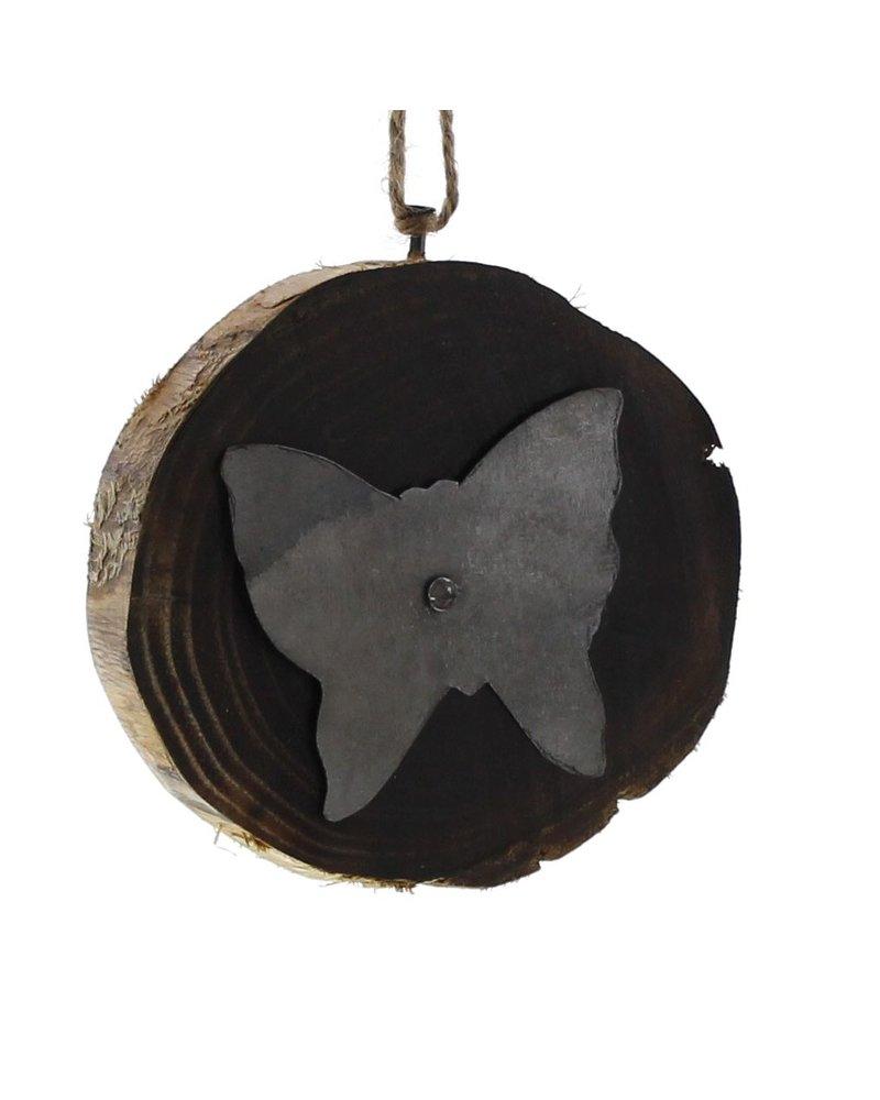 HomArt Wood Slice Ornament - Butterfly
