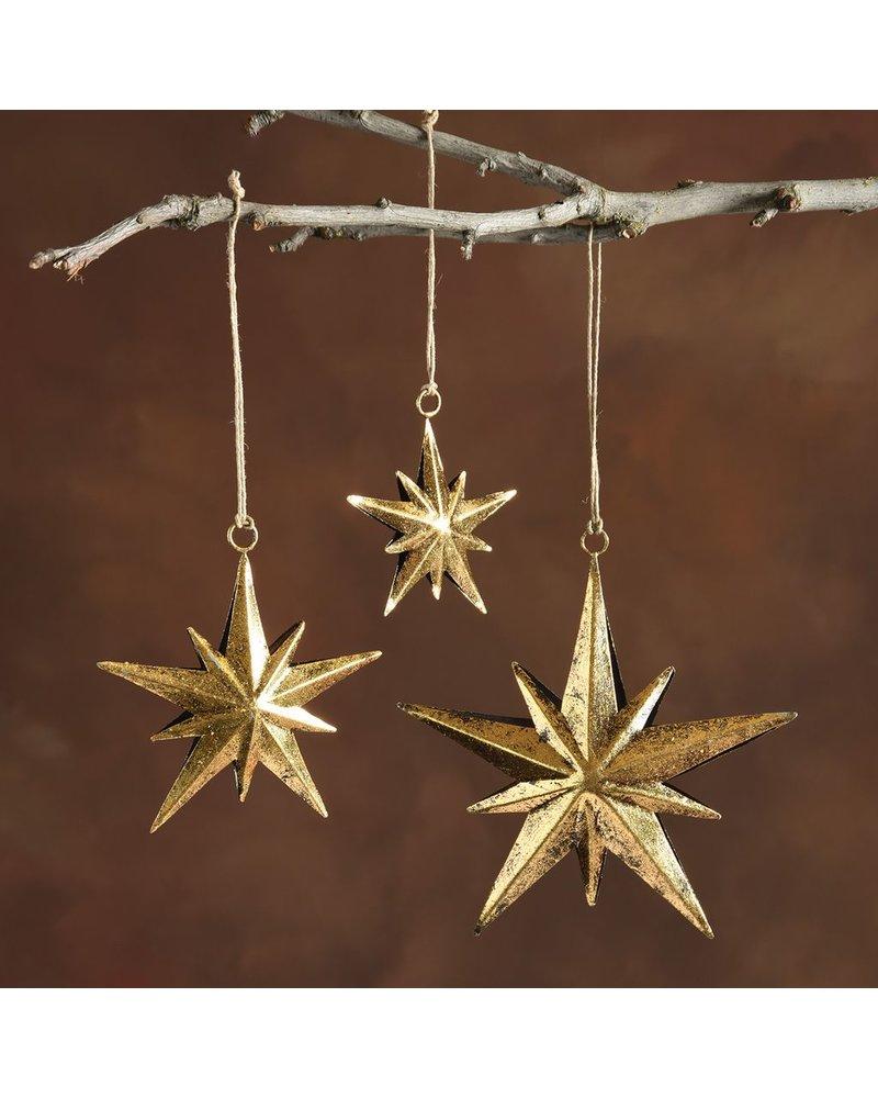 HomArt Northern Star Metal Ornament - Med-Antique Gold
