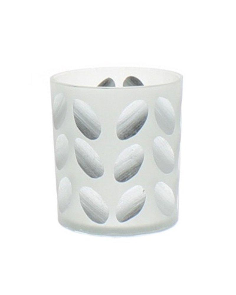 HomArt Tabitha Cut Glass Votive Cup - Silver