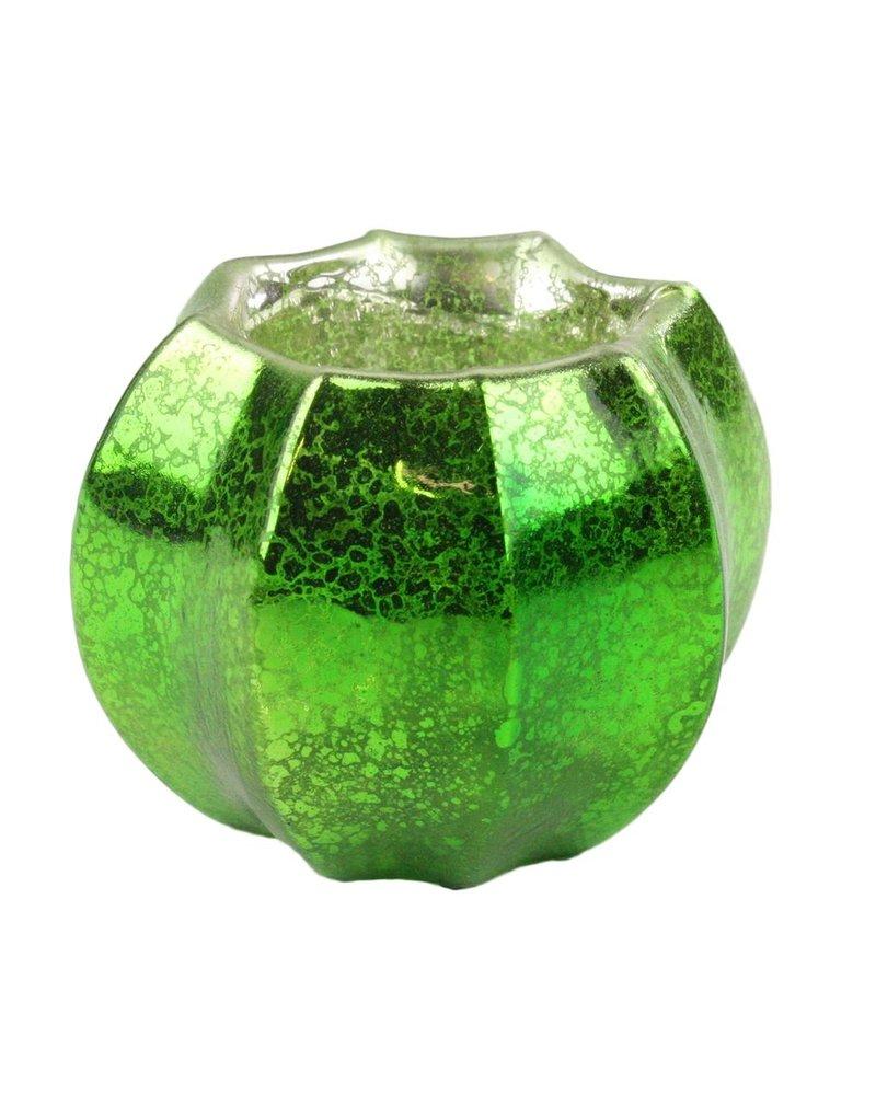 HomArt Mercury Glass Tealight Holder Antique Green
