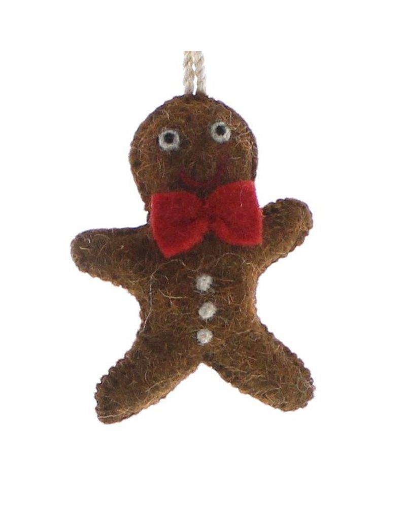 HomArt Felt Gingerbread Man Ornament