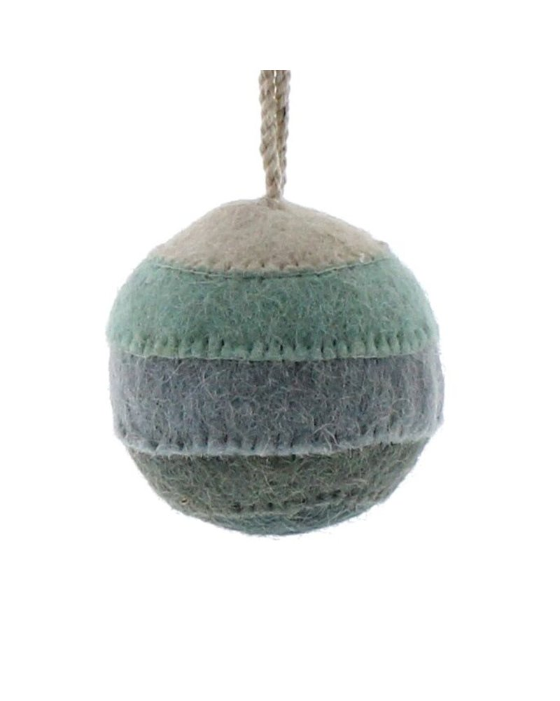HomArt Felt Patchwork Ball Ornament  Blue