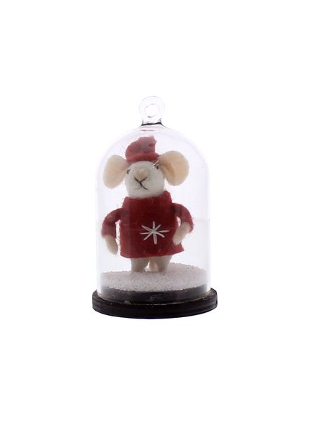 HomArt Snow Globe White Mouse Ornament  White